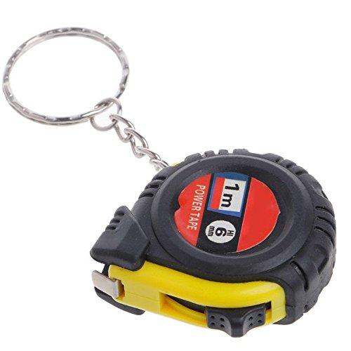 feiXIANG Mini Maßband mit Schlüsselanhänger,1 m, Niedlich Tragbare Einziehbare Rollmaßband Multifunktional Körper Messung Home Arbeit Messwerkzeuge Lineal Taschenbandmaß (Zufällige, 4x4.5x1.6cm)