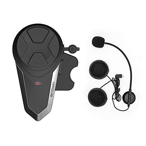 Intercomunicador Casco Moto, ENCHICAS BT-S3 Bluetooth Auriculares Manos Libres para Casco Moto (1*BT-S3)