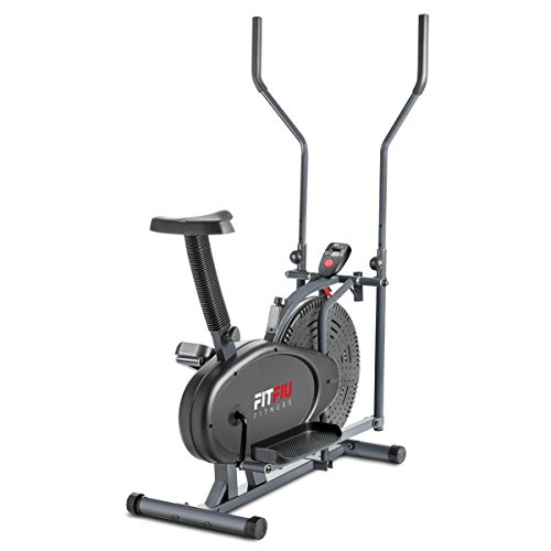 Fitfiu Fitness ORB2000S, Cyclette Ellittica con Ergometro, Display LCD, Cross Training...