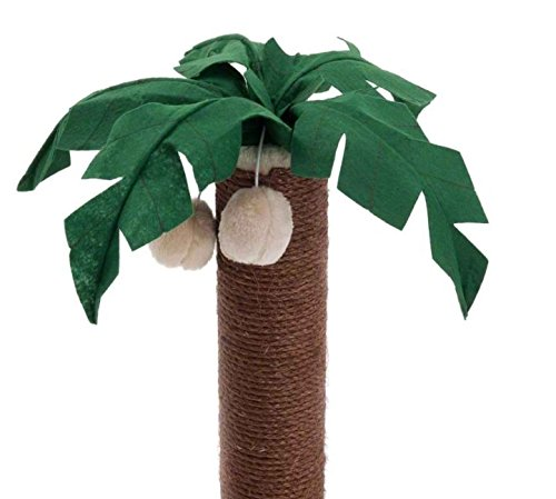 Coconut Palm Cat Scratching Post - with Dark Brown Sisal Covered Trunk and Plush-Covered Base - Adds A Touch of Tropical… 4