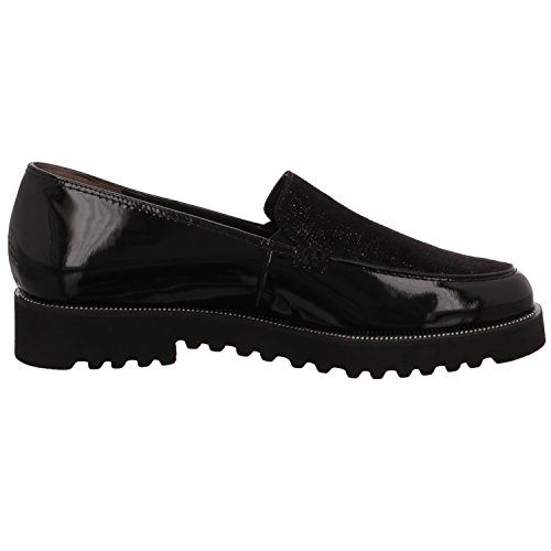 1612 PAUL GREEN CHUNKY LOAFER Blk Patent