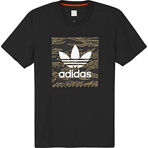 adidas Camo BB Sweatshirt, Herren M Schwarz Camouflage Cotton Sweatshirt