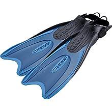 Cressi Palau Adjustable Fins for Diving, Apnea and Snorkeling, Unisex, Blue / Light Blue, 9.5/12.5 UK