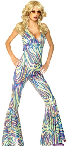 erdbeerloft-Damen-Karnevalskomplettkostm-Dancing-Queen-Jumpsuit-S-L-Mehrfarbig