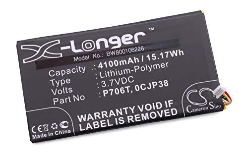 vhbw Batterie 4100mAh (3.7V) pour tablette pad netbook Dell Venue 7 comme 0CJP38, P706T.