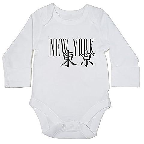 HippoWarehouse New York Tokyo Type Crossover baby bodysuit (long sleeve) boys girls