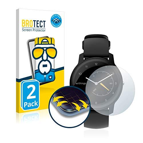 brotect Protection Intégrale 3D Incurvé Compatible avec Withings Move ECG (2 Pièces) - Couverture Complète, Film Protection Écran