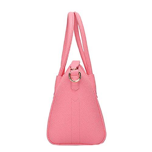 Borsa A Tracolla In Pelle Di Moda Gripesack Casuale Borse Multicolore Pink