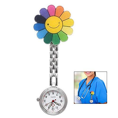 LHKJ Uhren,Krankenschwester Armbanduhr Damen Taschenuhr Analog Quarzuhr aus Edelstahl