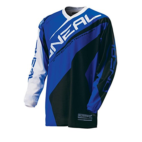 O'Neal Element MX Cross Jersey RACEWEAR Blau Motocross Enduro Downhill Trikot Cross Motorrad, 0024R-01, Größe XL
