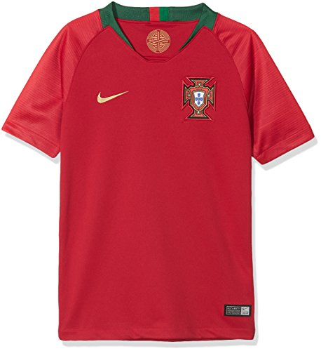 Nike Kinder Portugal Stadium Home T-Shirt, Gym Red, L