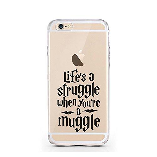 iPhone 7 Hülle von licaso® für das Apple iPhone 7 aus TPU Silikon Life's a Struggle when you're a Muggle Harry Potter Muster ultra-dünn schützt Dein iPhone 7 & ist stylisch Case Design Schutzhülle Bum Struggle