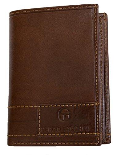 Sergio Tacchini portafoglio marrone chiaro in pelle lucida resistente