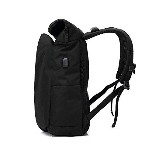 Z&N Backpack Wasserdichtes Oxford Tuch tragbar Mode kreativ Rucksack Casual Computer Rucksack Wanderrucksack Berg Camping Rucksack black