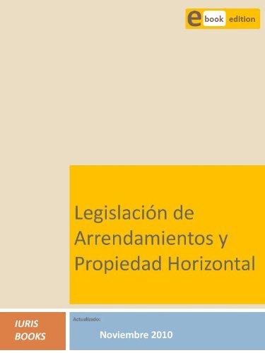 Legislación de Arrendamientos y Propiedad Horizontal por Iuris Books