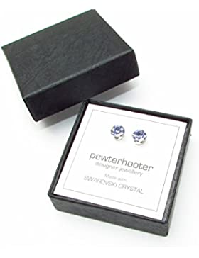 925-Sterling Ohrstecker handgefertigt mit funkelnden Provence lavender Kristall aus SWAROVSKI®.