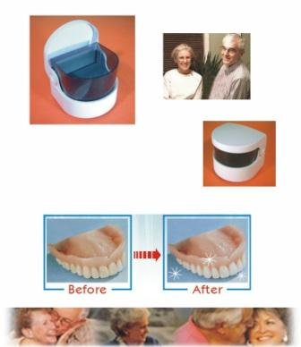 Image of Sonic Denture Cleaner/ Clean Dentures Professionally