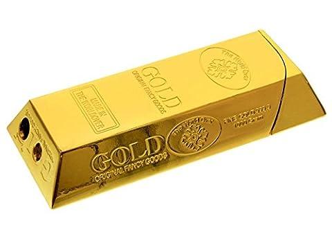 Gold Bar Gas Electronic Refillable Gold Bullion Ingot Cigarette Cigar Flame Lighter