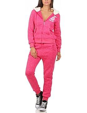 10627 Fashion4Young Hausanzug mit Kapuzenpullover I Jogginganzug Jacke Hose Sportanzug Fitness Trainingsanzug...