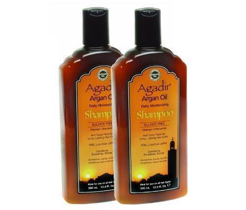 Agadir Argan Oil Daily Moisturizing Shampoo, 12.4 Ounce (Pack of 2) by Agadir [Beauty] (English Manual)