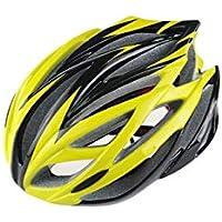 XDXDWEWERT Bicicleta Casco de Bicicleta Ajustable para Adultos Casco de Bicicleta para Casco de Bicicleta de montaña porosa (Amarillo)