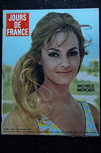 JOURS DE FRANCE 663 1967 JUILLET COVER MICHELE MERCIER SHEILA JEANNE MOREAU SAINT TROPEZ MODE 1967