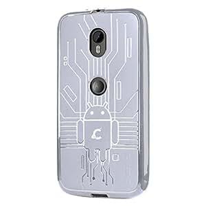 Case for Moto G (3rd Gen, 2015), Cruzerlite Bugdroid Circuit TPU Case for Motorola Moto G (3rd Gen, 2015)- Clear