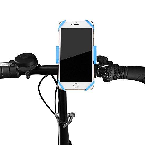 FTLL Handyhalterung Fahrrad, Smartphone Handyhalter Fahrrad Verstellbar für iPhone 5 /5s 6/ 6s plus iphone 7/7 plus Samsung Galaxy S4/5/6/7/C5/7/A3/7/5/9 Edge Note 4/5/6/7 LG G5 / SONY Experia T2 Ultra / Xperia Z3 + / MOTO Nexus 6 / HTC One Max / Desire 816 / Un M9 / ASUS Zenfone 2 (blau) (Zweite Hand Fahrrad)