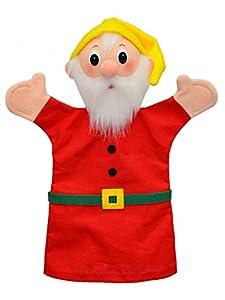 MU mubrno 22201a Enano 27cm Rojo, marioneta de Mano