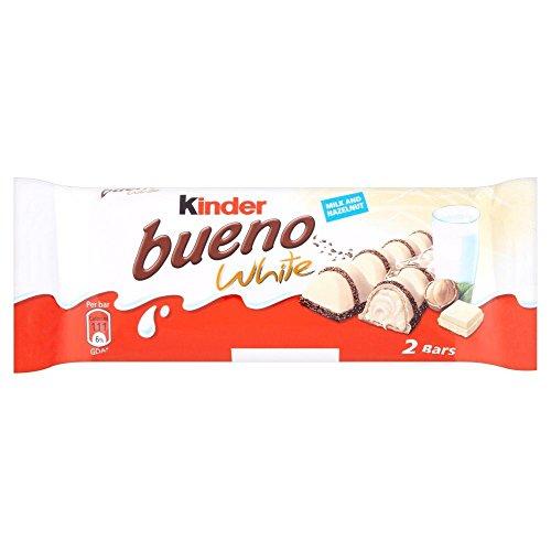 Kinder Bueno White - Barrita de chocolate blanco con crema de avellanas - 39 g - Pack de 3 unidades
