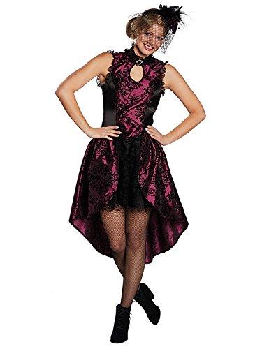 Girl Kleid Halloween Fasching Verkleidung Damen elegant edel (38) (Cowboy Saloon Girl Kostüme)