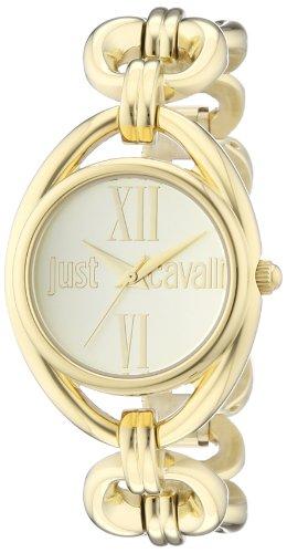 Just Cavalli R7253182501 - Reloj analógico de Cuarzo para Mujer con Correa de Acero Inoxidable, Color Dorado