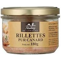Fleurons de Lomagne - Rillettes Pur de Pato (carne de pato deshilachada) 180g - Pack de 4 unidades