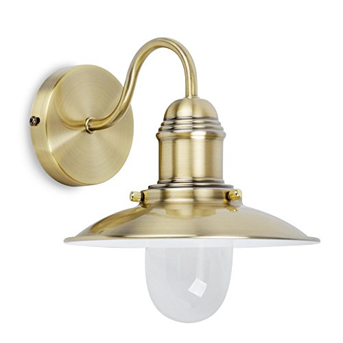 MiniSun - Modern Metal & Glass Fisherman's Lantern Wall Light