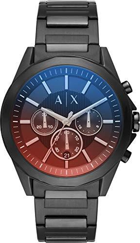 Armani Exchange Herren Chronograph Quarz Uhr mit Edelstahl Armband AX2615