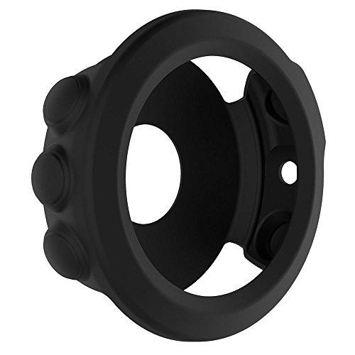 Für Garmin Fenix 5X GPS Watch Dünner Bunter Silizium Kasten Abdeckung Case Cover Schützen Shell Schutz Hülse Protect Shell, Weich und flexibel. (Schwarz)