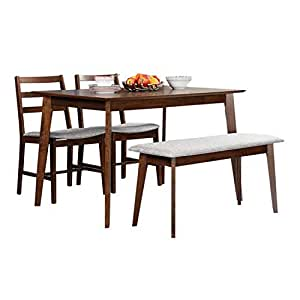 HomeTown Allen 4 Seater Dining Set With Bench Amazonin Home Kitchen