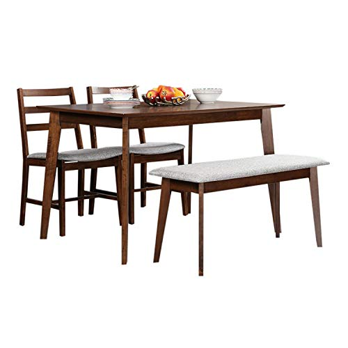 Hometown Allen 4 Seater Dining Table Set With Bench Light