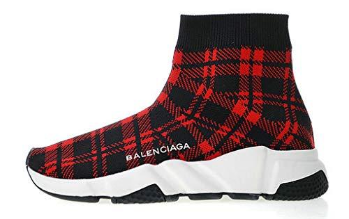 newest-fashion-sneaker-balenciaga-speed-stretch-knit-grid-gitter-wine-scarpe-da-corsa-donna