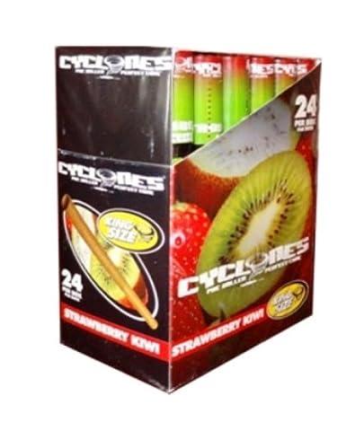 5x Cyclones–Fruit Saveurs–Cônes pré-roulés Parfait dans de nombreuses saveurs vendus par Trendz STRAWBERRY KIWI