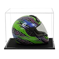 Widdowsons Display Cases Crash Helmet Display Case with a Black Wooden Base, Acrylic, 43.2 x 35.7 x 31.1 cm