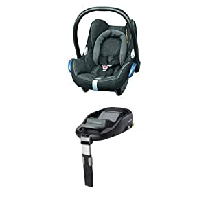 maxi cosi cabriofix babyschale gruppe 0 0 13 kg schwarz mit isofix station baby. Black Bedroom Furniture Sets. Home Design Ideas