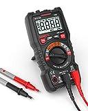 Digital Multimeter, KAIWEETS Strommessgerät Auto Ranging True RMS 4000 Counts, Messung von AC/DC Spannung, Strom, Widerstand, Diode, Durchgangsprüfung, Battrietester für Zuhause, KfZ etc. (Rot)