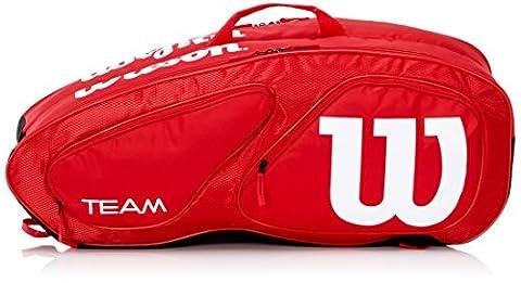 Wilson Erwachsene Sportsack Team II 6PK Bag RD, Rot, 76 x 25 x 31.7 cm, 60 Liter, 0887768377663