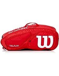 Wilson Team II 9PK Bag RD - Bolsa, color rojo, talla única