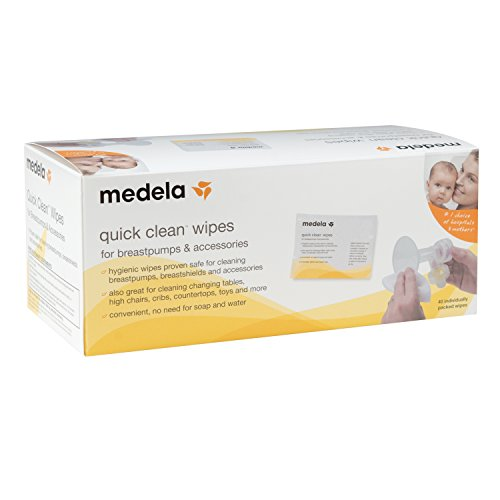 Medela Quick Clean Breast Pump and Accessory Wipes by Medela