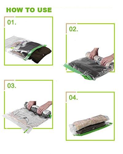 LaoZan 10 Stück VaKuum komprimierte Speicherung platzsparend Beutel Aufbewahrungstasche Für Kleidung 10PCS 10PCS(40*60CM)