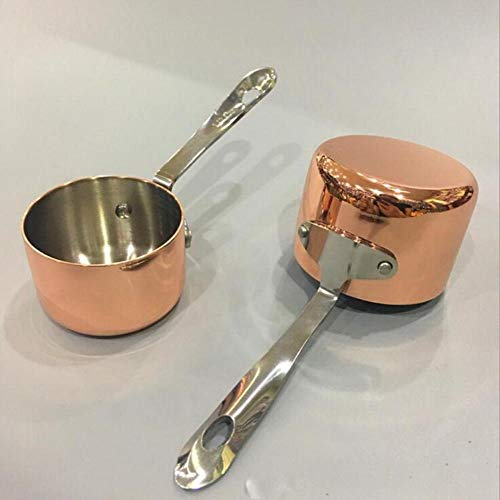 FTFSY Gravy Boats Copper Plated Sauce Cup Milk Cup French Fries Sauce CupWestern Restaurant Special Juice Cup,S Sauce-boat-cup