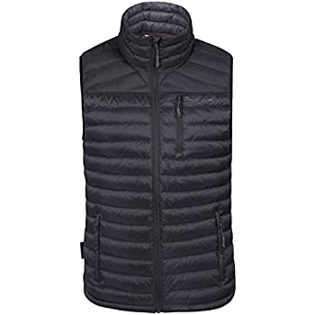 2e222c4ff93 Mountain Warehouse Henry Mens Down Padded Gilet - Light Mens Winter Jacket,  Packaway Bag Vest, Water Resistant Rain Coat, Machine Washable Coat - for  ...