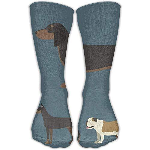 Preisvergleich Produktbild Kotdeqay Funny Cartoon Dog (1) Fashion Warm Winter Socks Cotton Crew Socks One Size for Women and Men(30cm)